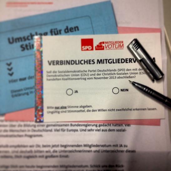 Mitgliedervotum SPD Foto: Philipp Hoicke
